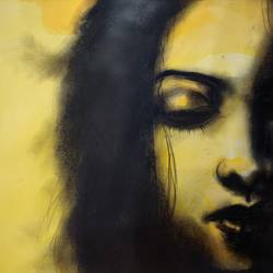 stree 1, 16 x 12 inch, kaushik nandi,16x12inch,thick paper,paintings,figurative paintings,paintings for living room,charcoal,photo ink,GAL02332735092