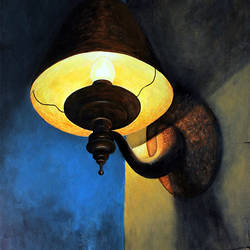 the lamp, 22 x 28 inch, seby augustine,still life paintings,paintings for office,canvas,acrylic color,22x28inch,GAL0150351