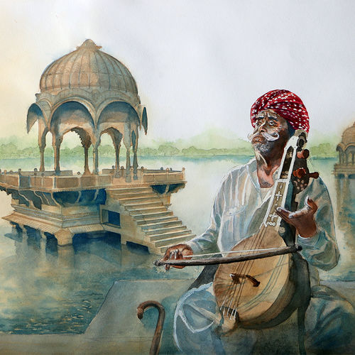 serenity, 30 x 22 inch, shaveta choudhary,landscape paintings,paintings for living room,horizontal,renaissance watercolor paper,watercolor,30x22inch,GAL012413510