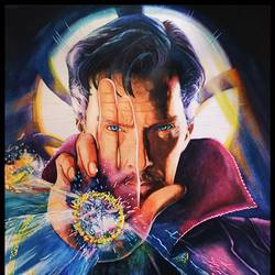 doctor strange with visible fingers, 11 x 16 inch, manash kalita,11x16inch,thick paper,paintings,realistic paintings,paintings for kids room,watercolor,GAL02342135119