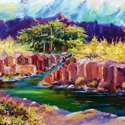 nature , 20 x 16 inch, diptonil banerjee,20x16inch,canvas board,paintings,landscape paintings,nature paintings   scenery paintings,oil color,GAL01103235135