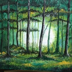 amidst the woods, 8 x 10 inch, aparajita lahiry,8x10inch,canvas,paintings,nature paintings | scenery paintings,oil color,GAL02336935156