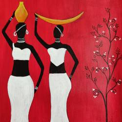 african tribal art , 12 x 16 inch, puspita datta,12x16inch,canvas,paintings,abstract paintings,figurative paintings,folk art paintings,modern art paintings,contemporary paintings,paintings for dining room,paintings for bedroom,paintings for office,paintings for hotel,acrylic color,GAL01538635161