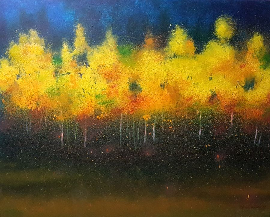 bloom, 30 x 24 inch, bhanupratap khare,landscape paintings,nature paintings,paintings for living room,paintings for office,canvas,oil,30x24inch,GAL012963517Nature,environment,Beauty,scenery,greenery