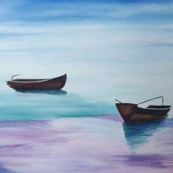 sea painting, 24 x 16 inch, jyoti gupta,24x16inch,canvas,paintings,nature paintings | scenery paintings,paintings for dining room,paintings for living room,paintings for bedroom,paintings for office,acrylic color,GAL02358735171