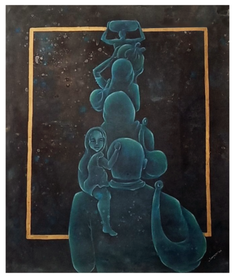 the queue which never ends ( covid-19), 30 x 40 inch, aditi jha,30x40inch,canvas,abstract paintings,modern art paintings,contemporary paintings,paintings for dining room,paintings for living room,paintings for bedroom,paintings for office,paintings for hotel,paintings for dining room,paintings for living room,paintings for bedroom,paintings for office,paintings for hotel,acrylic color,charcoal,pen color,pencil color,GAL02054535193