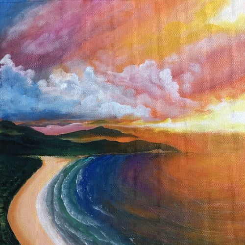 colorful sea, 10 x 12 inch, akansha singh,10x12inch,canvas,paintings,landscape paintings,nature paintings | scenery paintings,pop art paintings,contemporary paintings,paintings for dining room,paintings for living room,paintings for bedroom,paintings for office,paintings for bathroom,paintings for kids room,paintings for hotel,paintings for kitchen,paintings for school,paintings for hospital,acrylic color,GAL02164035194