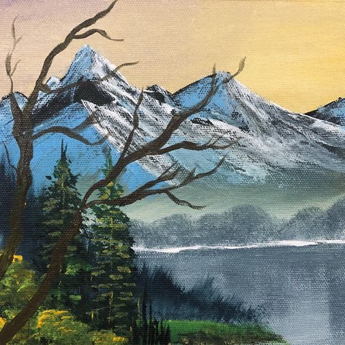 snowy mountains, 10 x 12 inch, akansha singh,10x12inch,canvas,paintings,abstract paintings,wildlife paintings,flower paintings,landscape paintings,photorealism,paintings for dining room,paintings for living room,paintings for bedroom,paintings for office,paintings for bathroom,paintings for kids room,paintings for hotel,paintings for kitchen,paintings for school,paintings for hospital,acrylic color,GAL02164035208