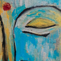 buddha meditating, 16 x 20 inch, pradeep kalipurayath,16x20inch,canvas,paintings,buddha paintings,paintings for dining room,paintings for living room,paintings for bedroom,paintings for office,paintings for hotel,paintings for school,paintings for hospital,acrylic color,oil color,GAL02267635209