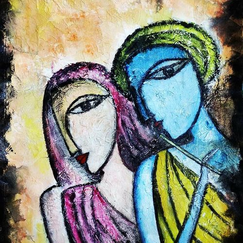 radha-krishna, 12 x 16 inch, puspita datta,12x16inch,canvas,abstract paintings,figurative paintings,modern art paintings,religious paintings,radha krishna paintings,paintings for dining room,paintings for living room,paintings for bedroom,paintings for office,paintings for hospital,paintings for dining room,paintings for living room,paintings for bedroom,paintings for office,paintings for hospital,acrylic color,mixed media,GAL01538635229