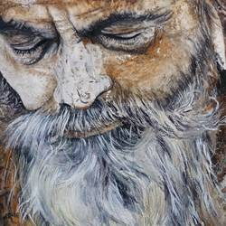 sadhu, 12 x 9 inch, swasti verma,12x9inch,brustro watercolor paper,portrait paintings,paintings for living room,paintings for office,paintings for hotel,paintings for living room,paintings for office,paintings for hotel,watercolor,GAL02345535234