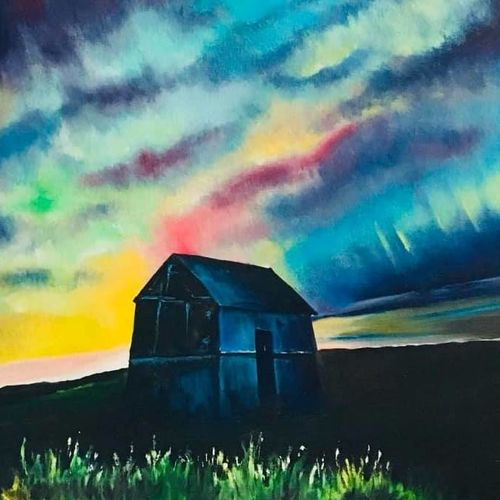 aurora landscape, 16 x 20 inch, asmita chandra,16x20inch,canvas,paintings,abstract paintings,landscape paintings,nature paintings | scenery paintings,contemporary paintings,paintings for dining room,paintings for living room,paintings for bedroom,paintings for office,paintings for kids room,paintings for hotel,paintings for kitchen,paintings for school,paintings for hospital,oil color,GAL02372235239