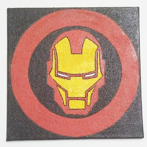 marvel ironman, 5 x 5 inch, somya bhaskar,5x5inch,canvas,paintings,abstract paintings,conceptual paintings,art deco paintings,pop art paintings,street art,children paintings,kids paintings,miniature painting.,paintings for dining room,paintings for living room,paintings for bedroom,paintings for office,paintings for bathroom,paintings for kids room,paintings for hotel,paintings for kitchen,paintings for school,paintings for hospital,acrylic color,pen color,GAL02029635251