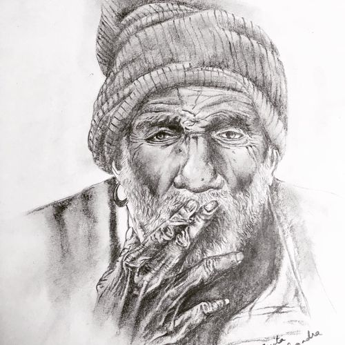 old man sketch, 11 x 16 inch, asmita chandra,11x16inch,paper,drawings,paintings for dining room,paintings for living room,paintings for bedroom,paintings for office,paintings for hotel,paintings for school,portrait drawings,paintings for dining room,paintings for living room,paintings for bedroom,paintings for office,paintings for hotel,paintings for school,charcoal,graphite pencil,GAL02372235254