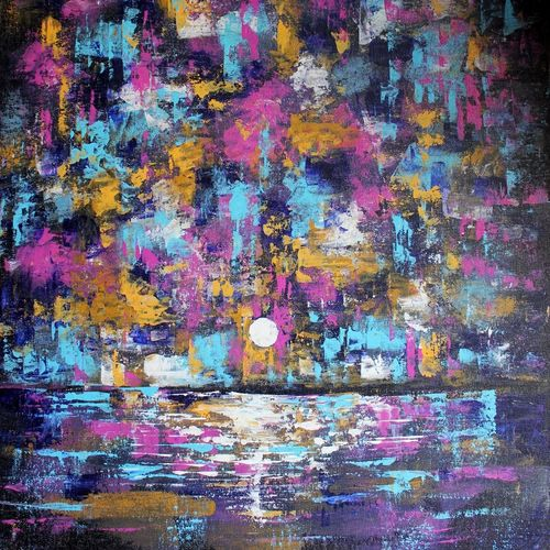 land scape 1, 20 x 24 inch, raghu godisela,20x24inch,canvas,paintings,abstract paintings,acrylic color,GAL02377735259