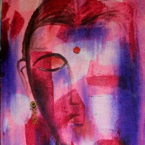 couple, 14 x 34 inch, raghu godisela,14x34inch,canvas,paintings,abstract paintings,acrylic color,GAL02377735261