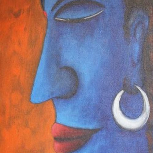 lord shiva 2, 14 x 34 inch, raghu godisela,14x34inch,canvas,paintings,figurative paintings,paintings for living room,acrylic color,GAL02377735269
