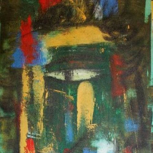 face, 14 x 34 inch, raghu godisela,14x34inch,canvas,paintings,abstract paintings,paintings for living room,acrylic color,GAL02377735271