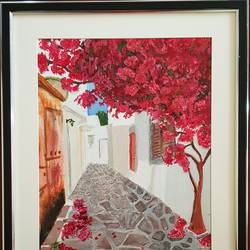 cobbled alley , 12 x 16 inch, aslam shareef,12x16inch,canvas,paintings,contemporary paintings,paintings for dining room,paintings for living room,paintings for office,paintings for hotel,paintings for kitchen,paintings for school,paintings for hospital,acrylic color,GAL02378835277