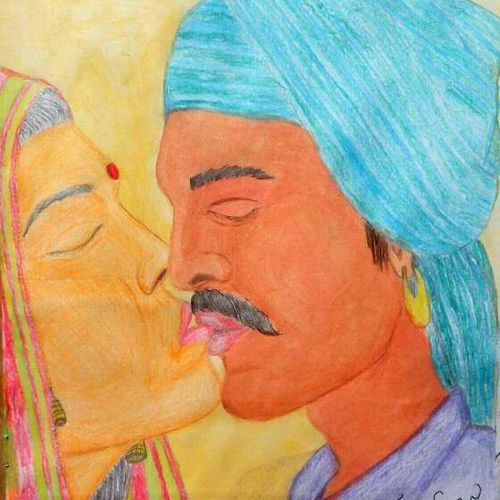 couple kissing, 9 x 12 inch, karantothu rameshbabu,nature paintings,paintings for bedroom,love paintings,thick paper,watercolor,9x12inch,GAL0151353heart,family,caring,happiness,forever,happy,trust,passion,romance,sweet,kiss,love,hugs,warm,fun,kisses,joy,friendship,marriage,chocolate,husband,wife,forever,caring,couple,sweetheartNature,environment,Beauty,scenery,greenery