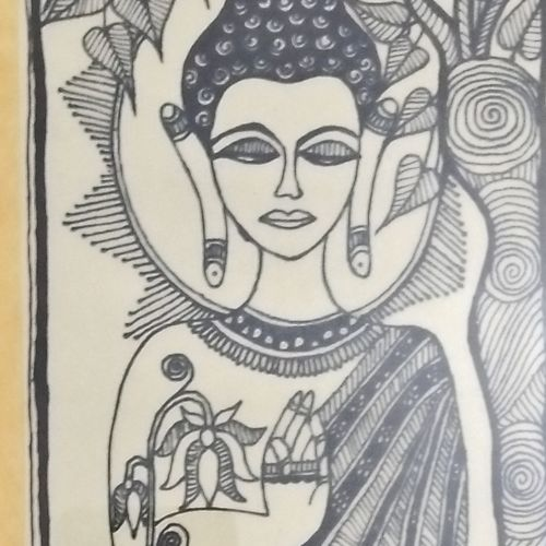 madhubani painting, 15 x 8 inch, yamini lobiyal,15x8inch,ivory sheet,buddha paintings,madhubani paintings | madhubani art,paintings for dining room,paintings for living room,paintings for bedroom,paintings for bathroom,paintings for hotel,paintings for school,paintings for dining room,paintings for living room,paintings for bedroom,paintings for bathroom,paintings for hotel,paintings for school,pen color,GAL0834035302