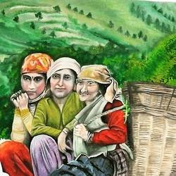water color painting, 24 x 18 inch, yamini lobiyal,24x18inch,ivory sheet,paintings,folk art paintings,realism paintings,paintings for living room,paintings for bedroom,paintings for hotel,paintings for living room,paintings for bedroom,paintings for hotel,watercolor,GAL0834035305