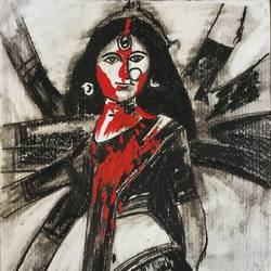 sindurkhela, 8 x 11 inch, manish  singh,8x11inch,thick paper,drawings,figurative drawings,paintings for living room,paintings for office,charcoal,paper,GAL02383535321