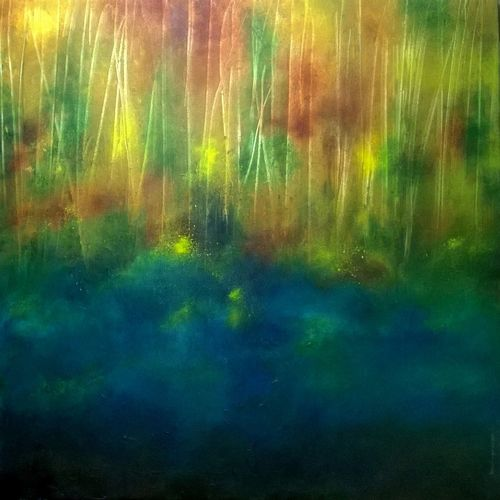 the woods, 40 x 30 inch, bhanupratap khare,landscape paintings,paintings for living room,canvas,oil,40x30inch,GAL012963533