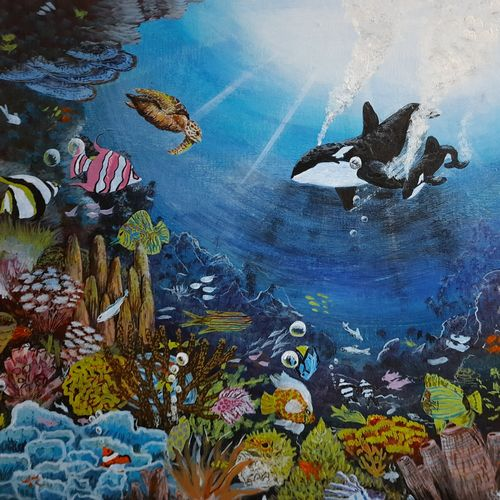 personal waterworld , 15 x 12 inch, anirudha  patil ,15x12inch,canvas board,wildlife paintings,nature paintings | scenery paintings,animal paintings,realistic paintings,paintings for dining room,paintings for living room,paintings for kids room,paintings for dining room,paintings for living room,paintings for kids room,acrylic color,GAL02386535342
