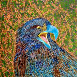 eagle, 12 x 12 inch, anirudha  patil ,12x12inch,canvas board,paintings,abstract paintings,wildlife paintings,nature paintings | scenery paintings,animal paintings,paintings for dining room,paintings for living room,paintings for bedroom,paintings for office,paintings for hotel,acrylic color,GAL02386535343