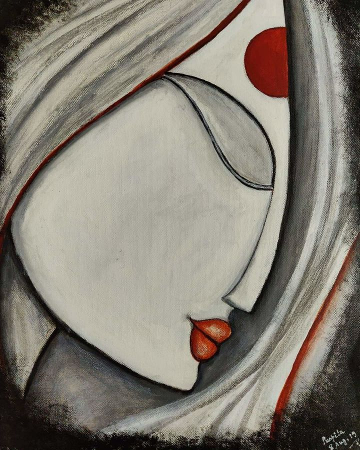 mother, 12 x 16 inch, puspita datta,12x16inch,canvas,paintings,abstract paintings,figurative paintings,modern art paintings,conceptual paintings,portrait paintings,abstract expressionism paintings,expressionism paintings,impressionist paintings,portraiture,contemporary paintings,paintings for dining room,paintings for living room,paintings for bedroom,paintings for office,paintings for kids room,paintings for hotel,paintings for kitchen,paintings for school,paintings for hospital,acrylic color,charcoal,GAL01538635370