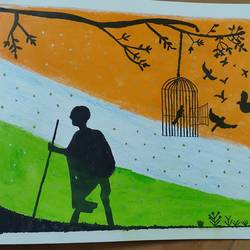 independence day, 28 x 35 inch, ishwarya s,28x35inch,drawing paper,religious paintings,impressionist paintings,realism paintings,paintings for school,paintings for school,acrylic color,pastel color,pencil color,graphite pencil,paper,GAL02390235375