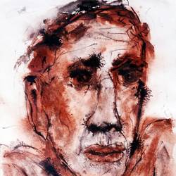 face, 11 x 15 inch, partha pratim  saha,11x15inch,handmade paper,abstract paintings,watercolor,paper,GAL02366735381