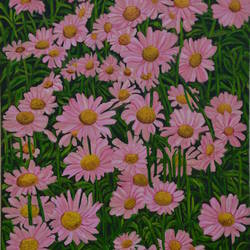morning bloom ii, 20 x 30 inch, ajay harit,20x30inch,canvas,paintings,flower paintings,paintings for dining room,paintings for living room,paintings for office,paintings for hotel,paintings for hospital,oil color,GAL0199835395