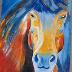 horse  3, 12 x 17 inch, parul srivastava,wildlife paintings,paintings for living room,horse paintings,thick paper,watercolor,12x17inch,GAL012893543