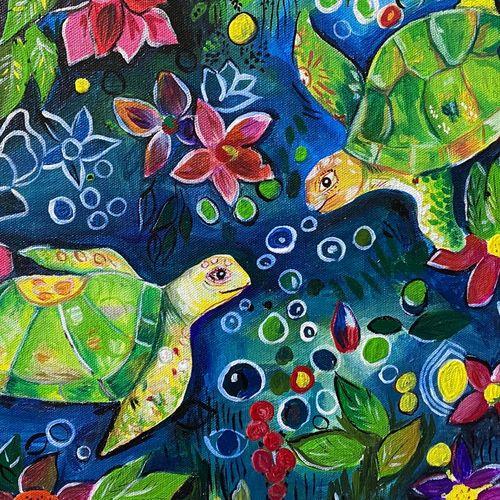 turtle, 18 x 12 inch, tinku surana,18x12inch,canvas,paintings,abstract paintings,nature paintings | scenery paintings,children paintings,paintings for dining room,paintings for living room,paintings for bedroom,paintings for kids room,paintings for dining room,paintings for living room,paintings for bedroom,paintings for kids room,acrylic color,GAL02212035439