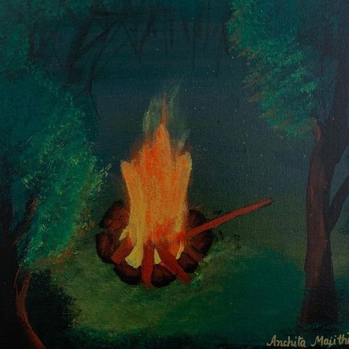 fire within, 10 x 12 inch, anchita majithia,10x12inch,canvas,paintings,landscape paintings,conceptual paintings,paintings for dining room,paintings for living room,paintings for office,paintings for kitchen,acrylic color,GAL02394135449