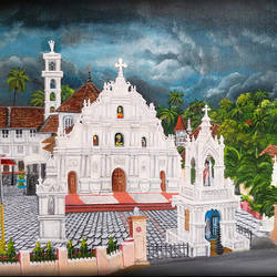 church before storm, 16 x 20 inch, shobin george,16x20inch,canvas,paintings,cityscape paintings,landscape paintings,religious paintings,realism paintings,realistic paintings,paintings for dining room,paintings for living room,paintings for bedroom,paintings for office,paintings for bathroom,paintings for kids room,paintings for hotel,paintings for kitchen,paintings for school,paintings for hospital,acrylic color,fabric,GAL02366335467