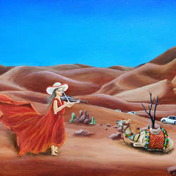 desert violinist, 16 x 20 inch, shobin george,16x20inch,canvas,paintings,figurative paintings,landscape paintings,nature paintings | scenery paintings,portraiture,realism paintings,paintings for dining room,paintings for living room,paintings for bedroom,paintings for office,paintings for bathroom,paintings for kids room,paintings for hotel,paintings for kitchen,paintings for school,paintings for hospital,acrylic color,fabric,GAL02366335471