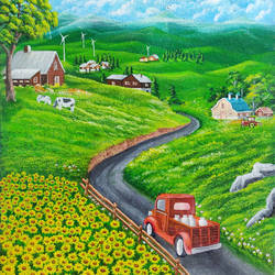 beautiful coutryside, 16 x 24 inch, shobin george,16x24inch,canvas,paintings,flower paintings,foil paintings,landscape paintings,nature paintings | scenery paintings,paintings for dining room,paintings for living room,paintings for bedroom,paintings for office,paintings for bathroom,paintings for kids room,paintings for hotel,paintings for school,paintings for hospital,acrylic color,fabric,GAL02366335481