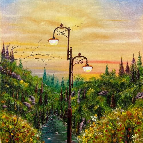jungle lamp, 12 x 16 inch, jeff bourne,12x16inch,canvas,paintings,wildlife paintings,cityscape paintings,landscape paintings,conceptual paintings,nature paintings | scenery paintings,photorealism paintings,realism paintings,realistic paintings,paintings for dining room,paintings for living room,paintings for bedroom,paintings for office,paintings for hotel,oil color,GAL02367035492