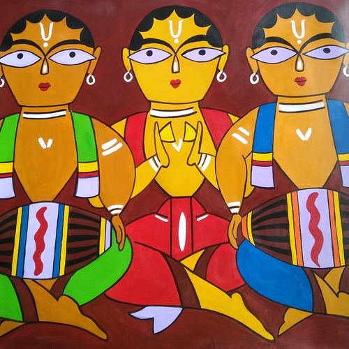 three musicians , 28 x 22 inch, parul singare,28x22inch,ivory sheet,paintings,modern art paintings,paintings for dining room,paintings for living room,paintings for bedroom,paintings for office,paintings for kids room,paintings for hotel,paintings for school,paintings for hospital,acrylic color,GAL02400635499