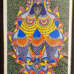 coexistence , 27 x 33 inch, parul singare,27x33inch,ivory sheet,paintings,madhubani paintings | madhubani art,paintings for dining room,paintings for living room,paintings for office,paintings for hotel,paintings for school,paintings for dining room,paintings for living room,paintings for office,paintings for hotel,paintings for school,acrylic color,GAL02400635505