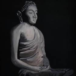 buddha in meditation, 12 x 16 inch, subhojit  naskar,12x16inch,canvas,paintings,buddha paintings,paintings for dining room,paintings for living room,paintings for bedroom,paintings for office,paintings for kids room,paintings for hotel,paintings for kitchen,paintings for school,paintings for hospital,paintings for dining room,paintings for living room,paintings for bedroom,paintings for office,paintings for kids room,paintings for hotel,paintings for kitchen,paintings for school,paintings for hospital,acrylic color,GAL02303935514
