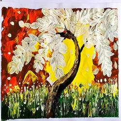 tree, 10 x 8 inch, poonam upadhyay,10x8inch,ivory sheet,paintings,nature paintings | scenery paintings,paintings for living room,paintings for living room,acrylic color,GAL02389735519