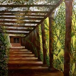 the path, 24 x 36 inch, sanjana sharma,24x36inch,canvas,paintings,cityscape paintings,nature paintings | scenery paintings,street art,realistic paintings,oil color,GAL02405735523