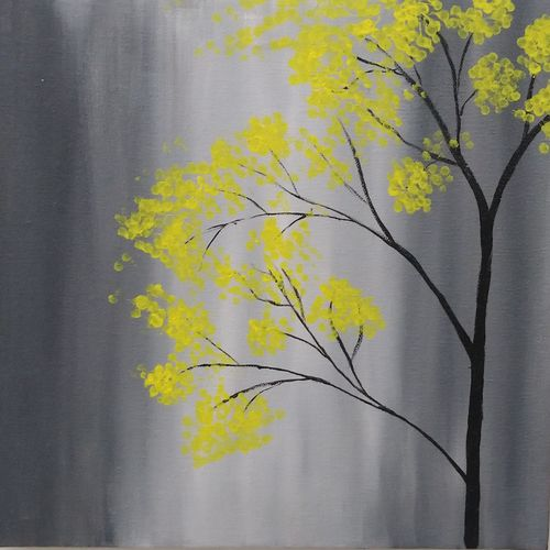 yellow foliage canvas painting, 12 x 12 inch, sumit solanki,12x12inch,canvas,paintings,paintings for dining room,paintings for living room,paintings for bedroom,paintings for office,paintings for bathroom,paintings for kids room,paintings for hotel,paintings for kitchen,paintings for school,paintings for hospital,acrylic color,GAL02407635542