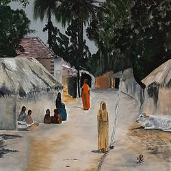 village 04, 18 x 18 inch, tejal bhagat,18x18inch,canvas,paintings,wildlife paintings,figurative paintings,cityscape paintings,landscape paintings,religious paintings,nature paintings | scenery paintings,expressionism paintings,illustration paintings,impressionist paintings,photorealism paintings,photorealism,realism paintings,surrealism paintings,animal paintings,realistic paintings,love paintings,children paintings,paintings for dining room,paintings for living room,paintings for bedroom,paintings for office,paintings for hotel,paintings for kitchen,paintings for school,paintings for hospital,acrylic color,GAL02041535544