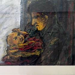 relation , 28 x 22 inch, partha pratim  saha,28x22inch,handmade paper,paintings,figurative paintings,ink color,mixed media,watercolor,GAL02366735546
