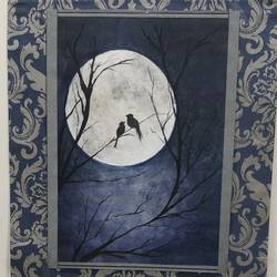 glory of moonlight, 16 x 18 inch, anjali garg,16x18inch,renaissance watercolor paper,modern art paintings,conceptual paintings,nature paintings | scenery paintings,charcoal,pastel color,GAL02326235548